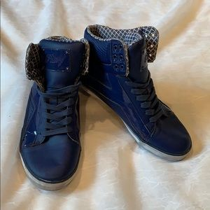 Pastry blue high top sneakers, 8